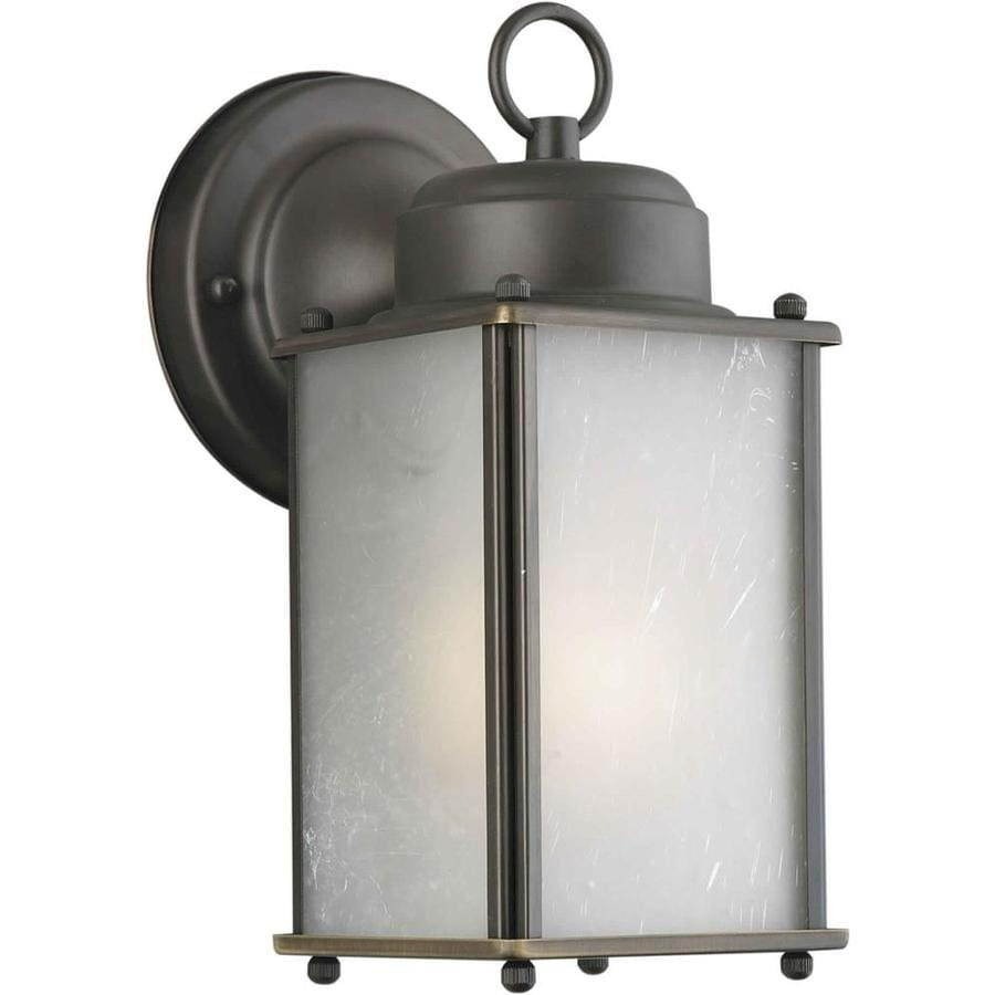 10-in H Royal Bronze Outdoor Wall Light