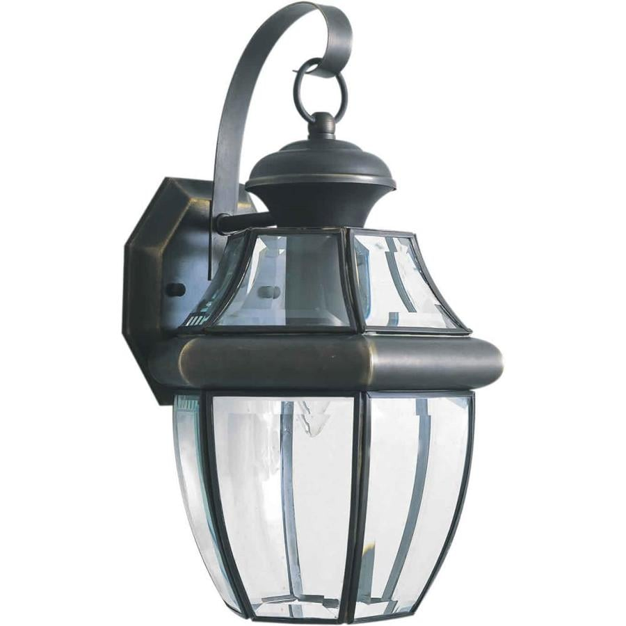 14-in H Royal Bronze Outdoor Wall Light