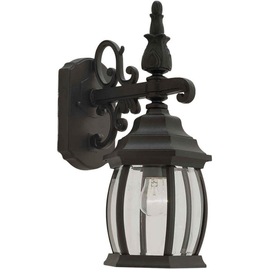 17-in H Black Outdoor Wall Light