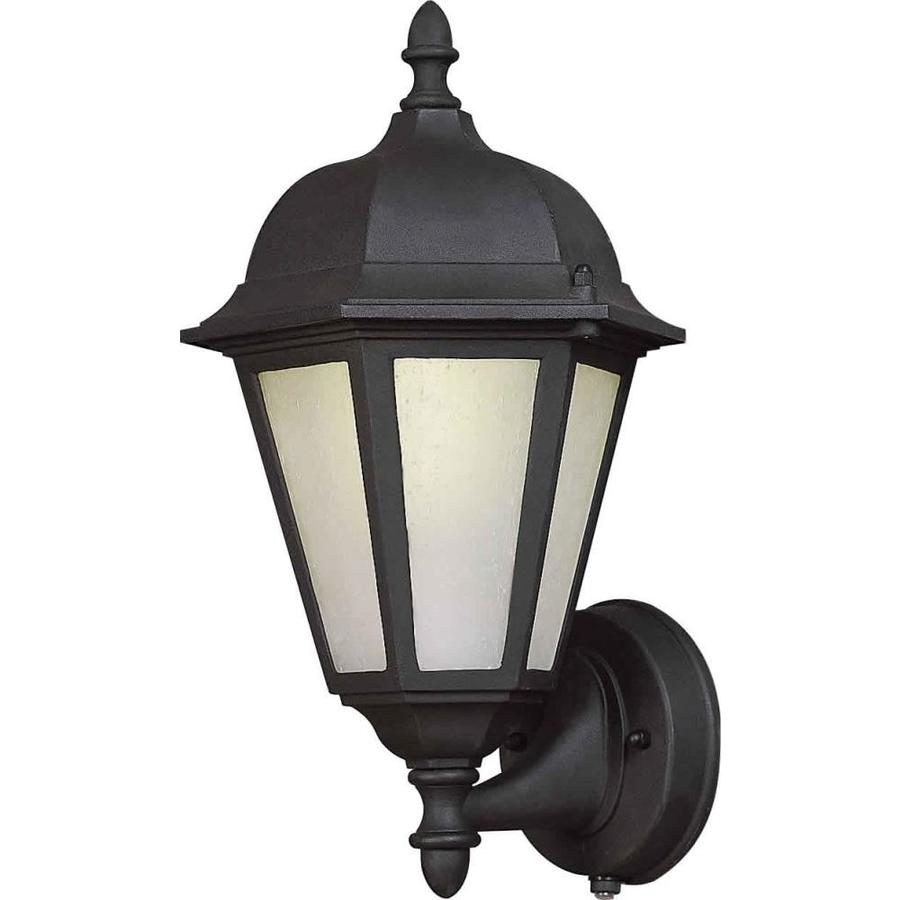 14-in H Black Outdoor Wall Light