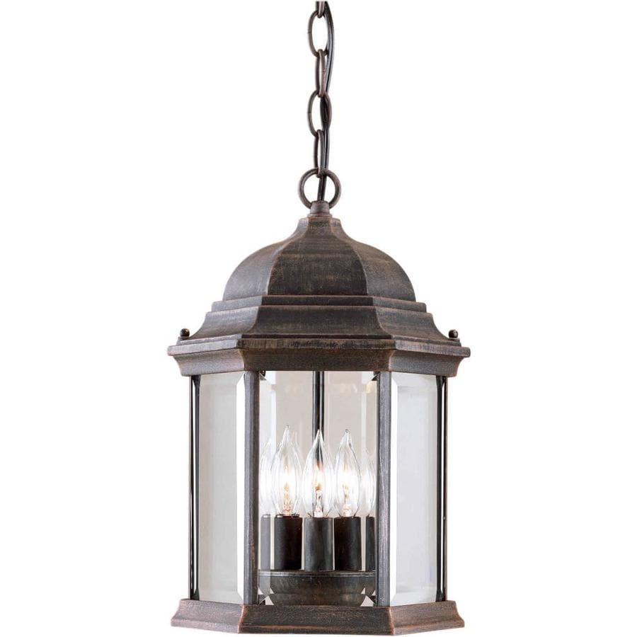 Hippolytus 15-in Painted Rust Outdoor Pendant Light