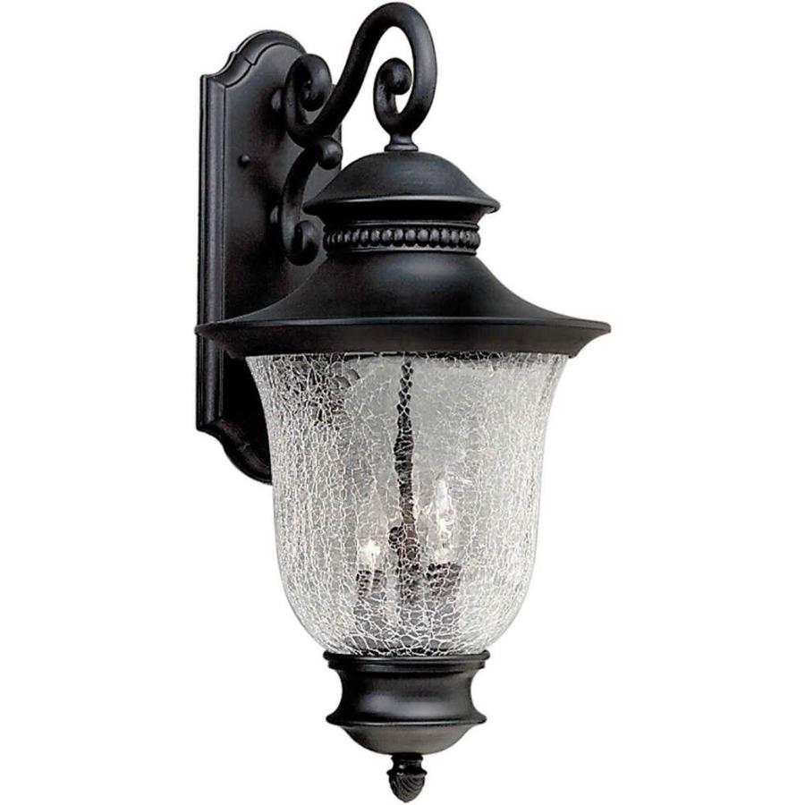 Shop 23-in H Black Outdoor Wall Light At Lowes.com