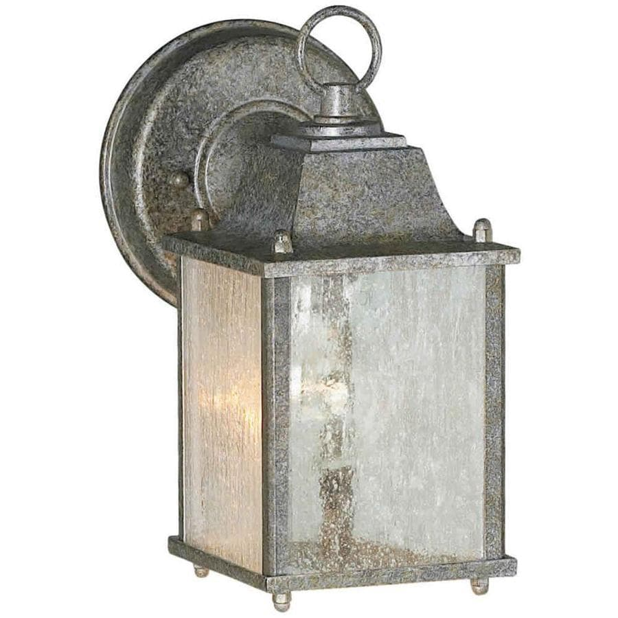 9-in H River Rock Outdoor Wall Light