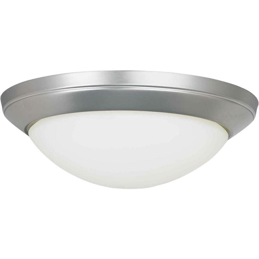 14-in W Brushed Nickel Ceiling Flush Mount Light