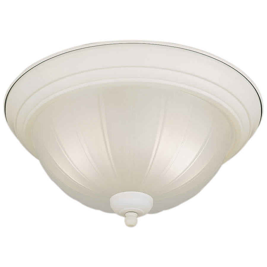 13.25-in W White Ceiling Flush Mount Light