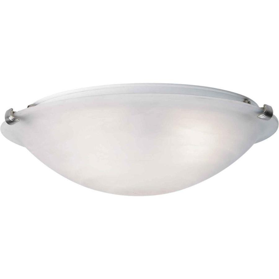 12-in W Brushed Nickel Ceiling Flush Mount Light