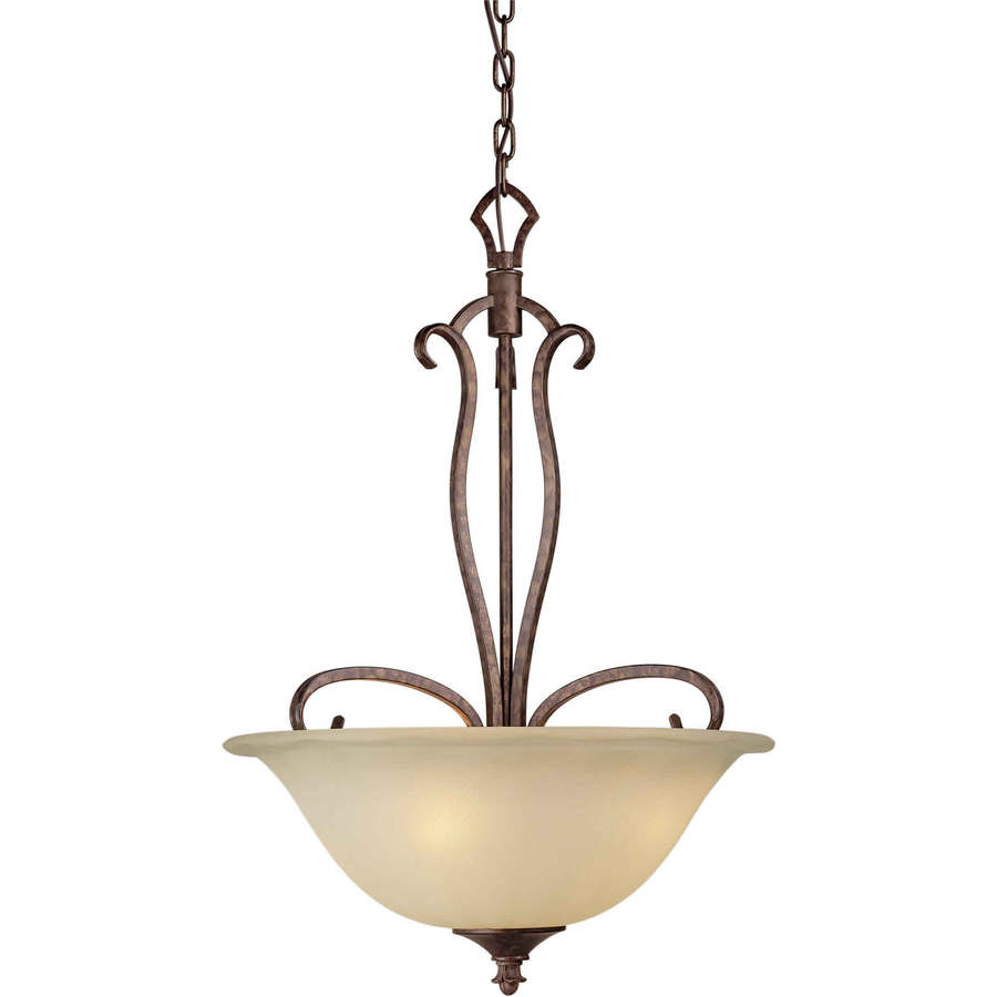 Shandy 20-in Rustic Spice Single Tinted Glass Pendant