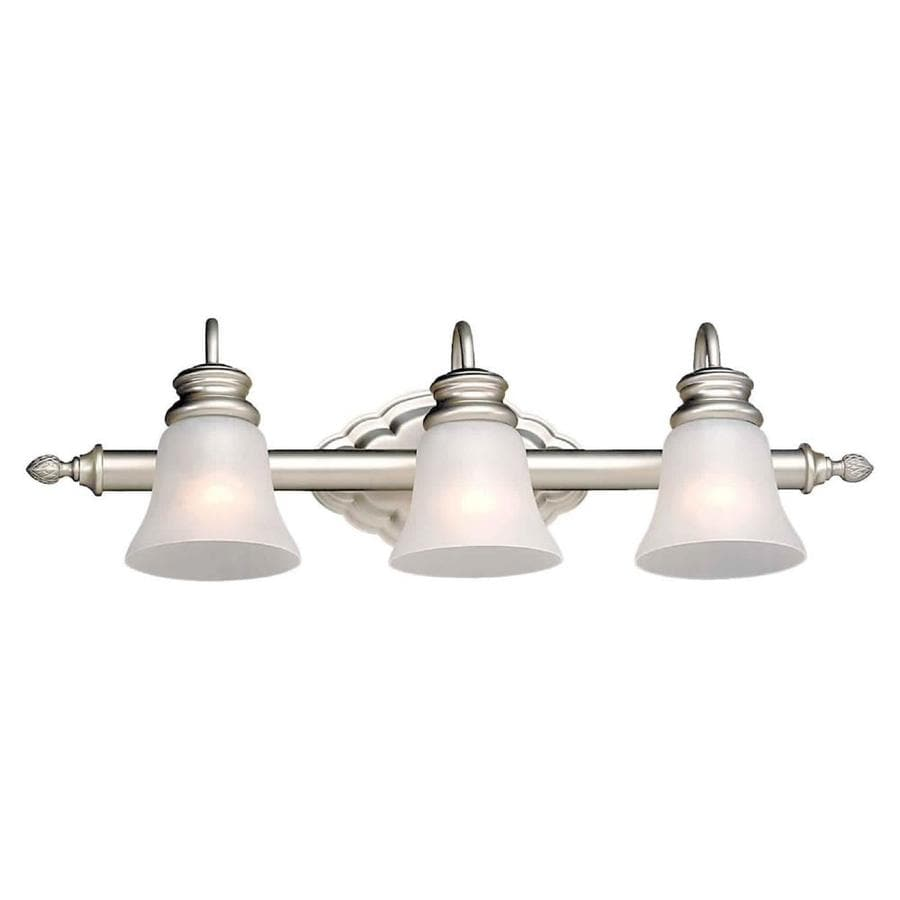 3 Light Vanity Brushed Nickel : Shop Shandy 3-Light Brushed Nickel Vanity Light at Lowes.com