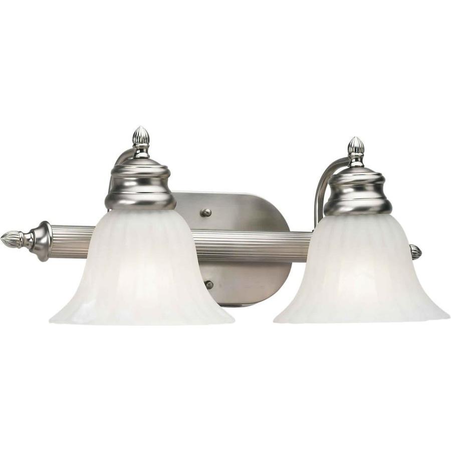 Shandy 2-Light Brushed Nickel Vanity Light