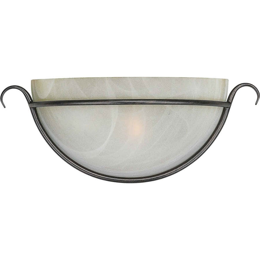 Shop Shandy 14-in W 1-Light Bordeaux Pocket Hardwired Wall Sconce at Lowes.com