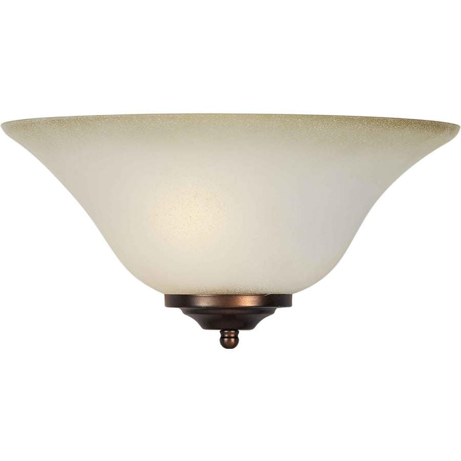 Shandy 13.25-in W 1-Light Brushed Nickel Pocket Hardwired Wall Sconce