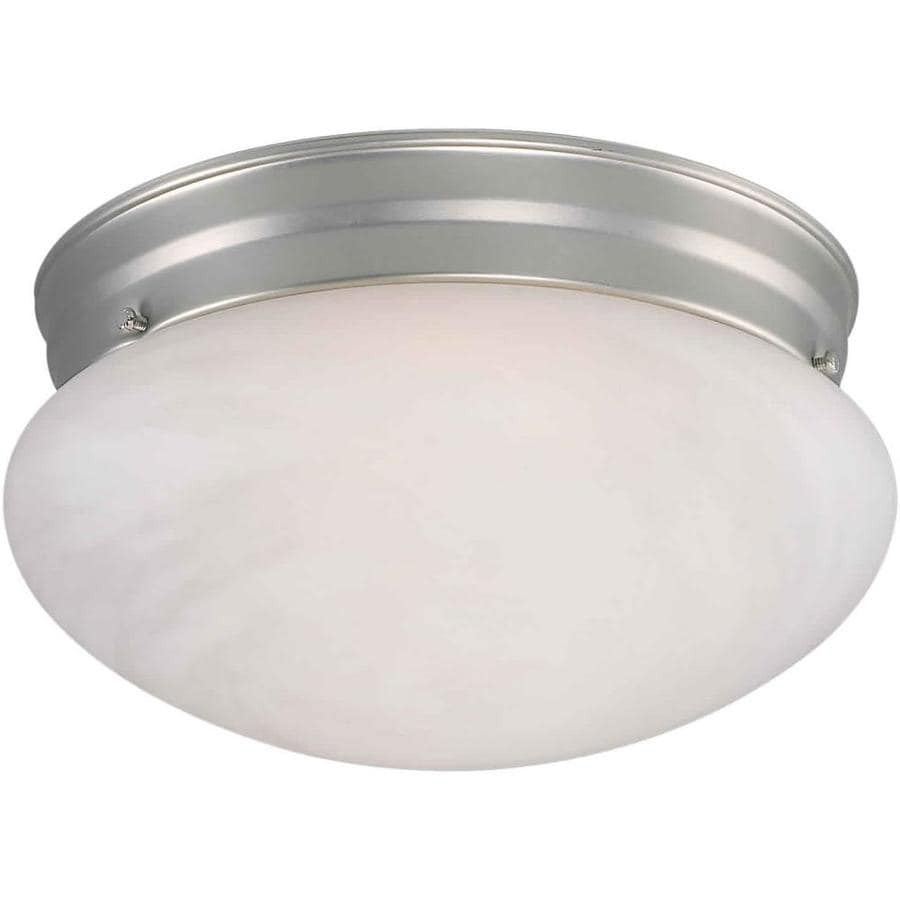 9.5-in W Brushed Nickel Ceiling Flush Mount Light