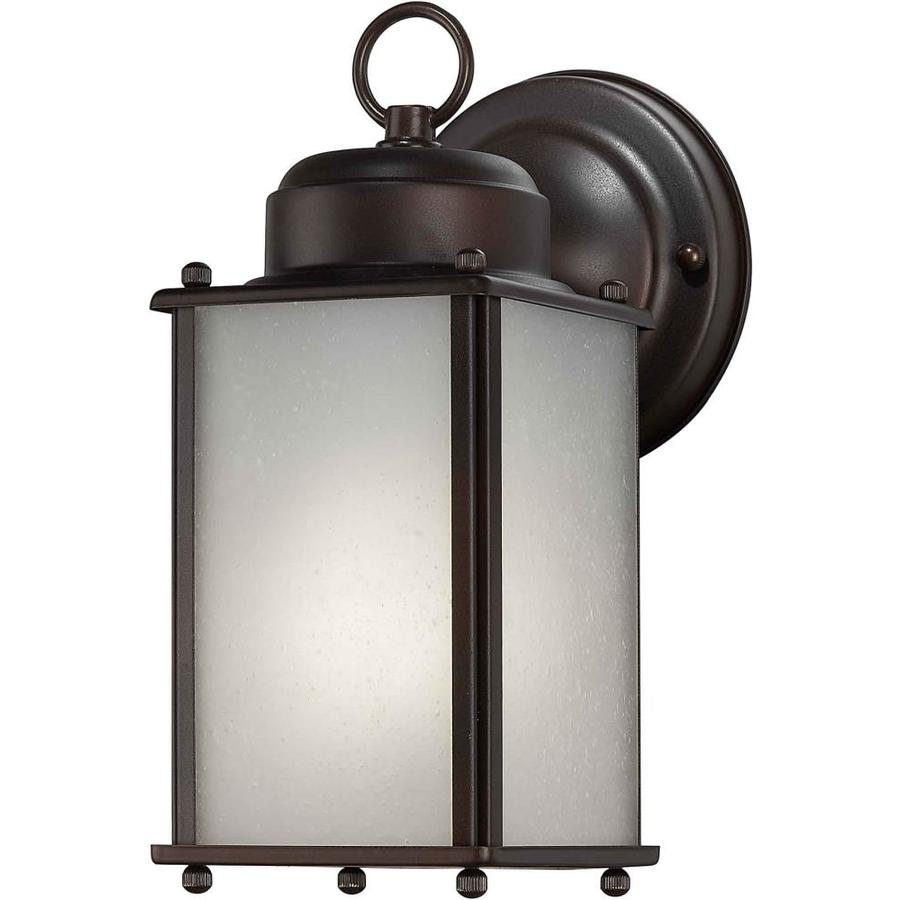 Shop 10-in H Antique Bronze Outdoor Wall Light at Lowes.com