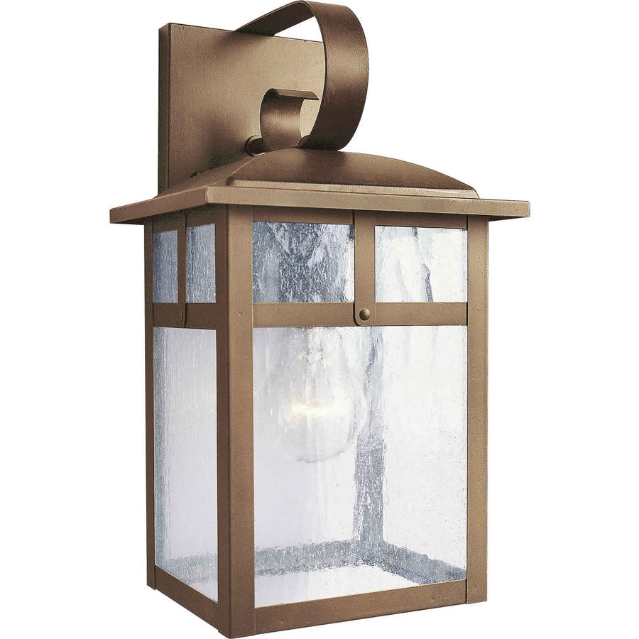 14-in H Rustic Sienna Outdoor Wall Light
