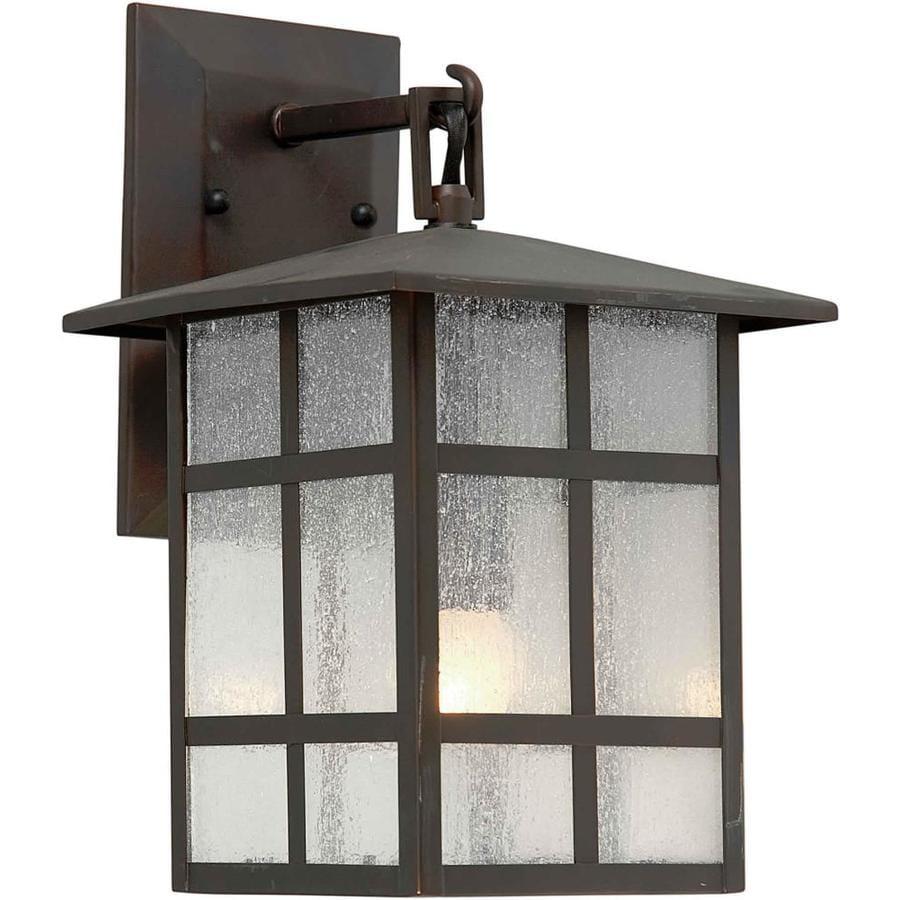 14-in H Antique Bronze Outdoor Wall Light