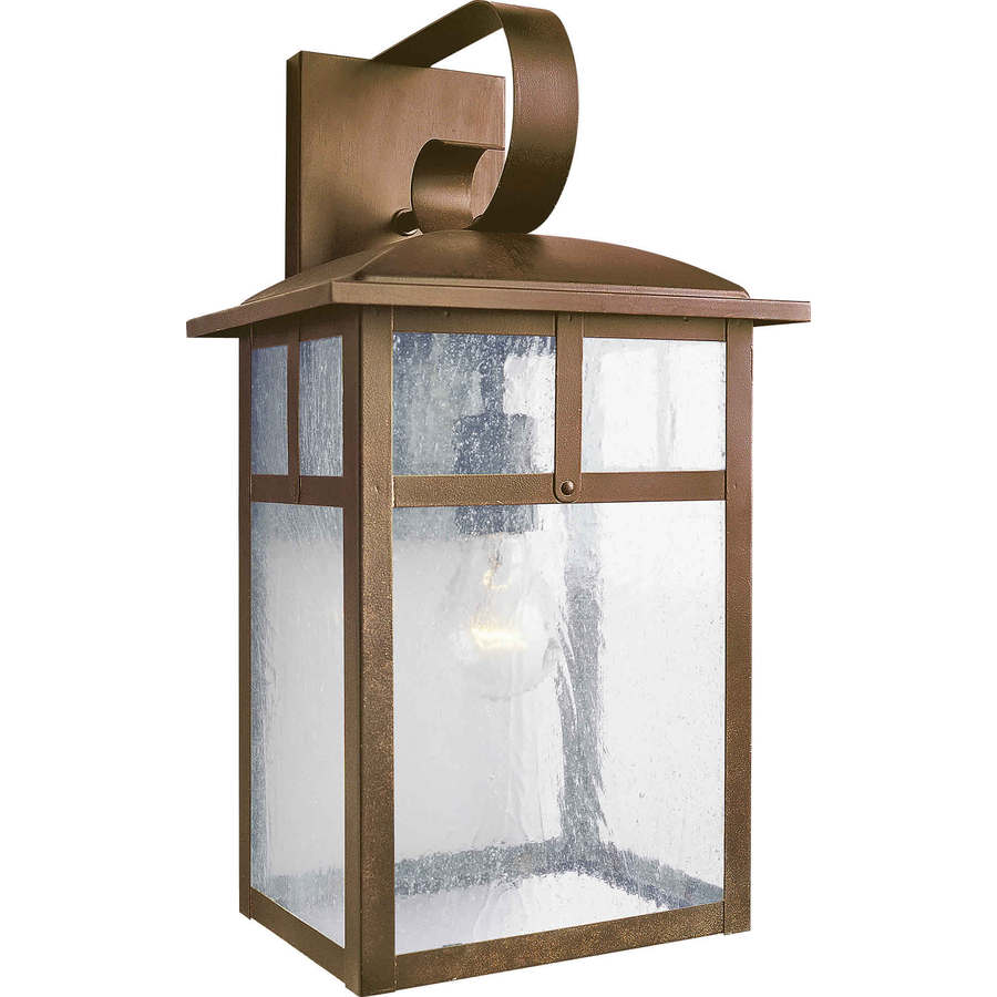 Shop 17-in H Rustic Sienna Outdoor Wall Light at Lowes.com