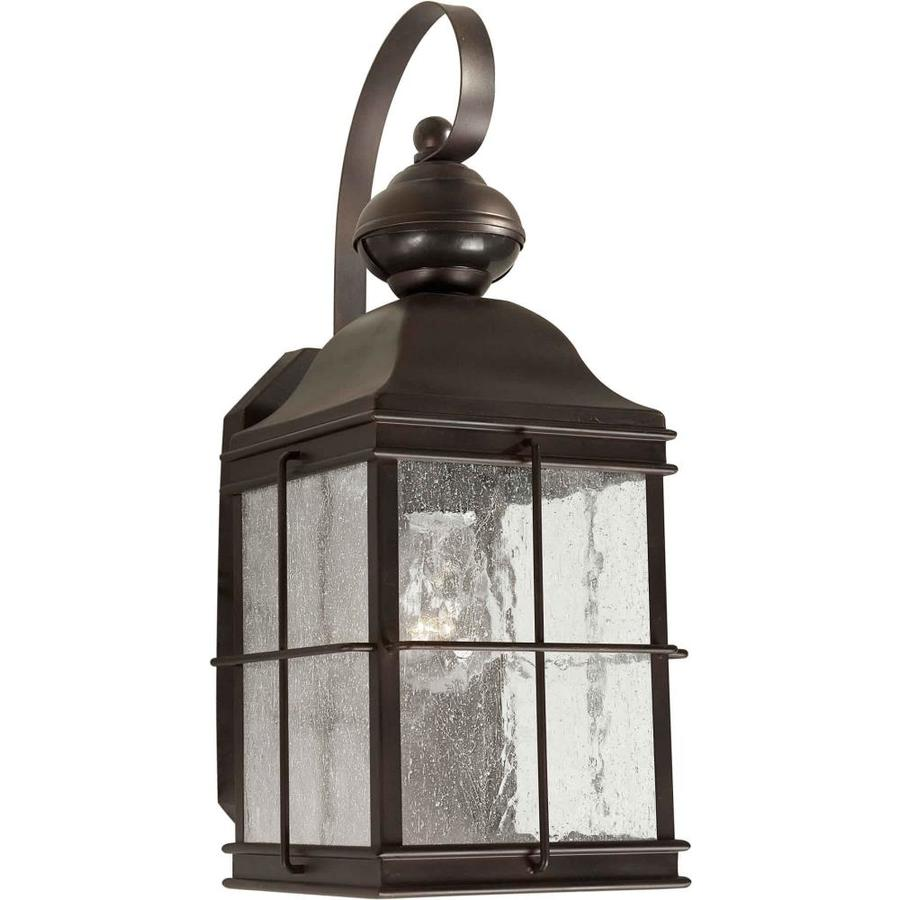 shop 13 in h antique bronze outdoor wall light at
