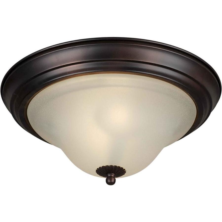 13.25-in W Antique Bronze Ceiling Flush Mount Light