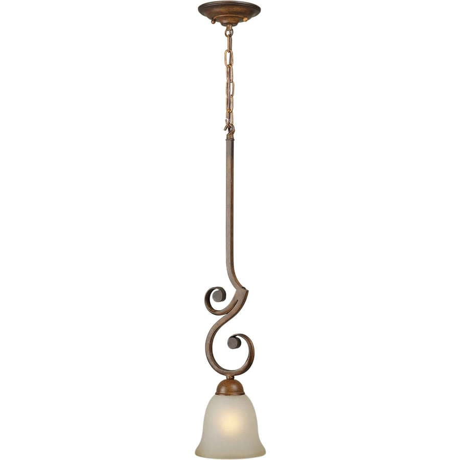 Shandy 6-in Rustic Sienna Mini Tinted Glass Pendant