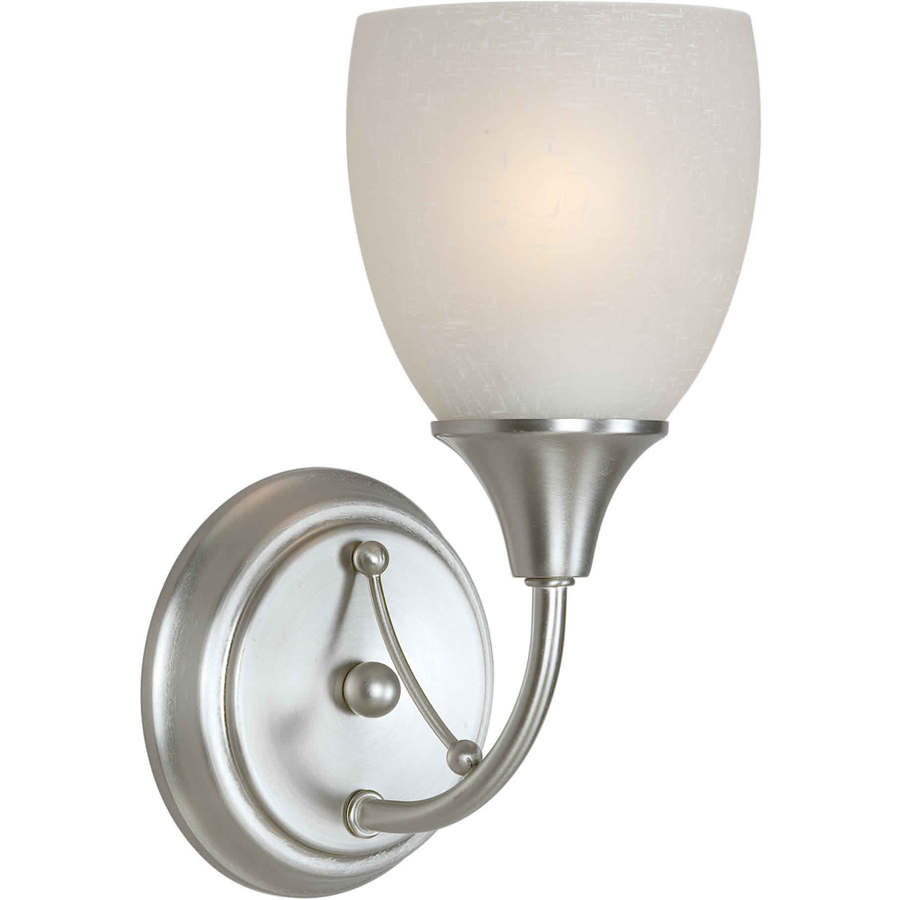 Shandy 4.75-in W 1-Light Brushed Nickel Arm Hardwired Wall Sconce