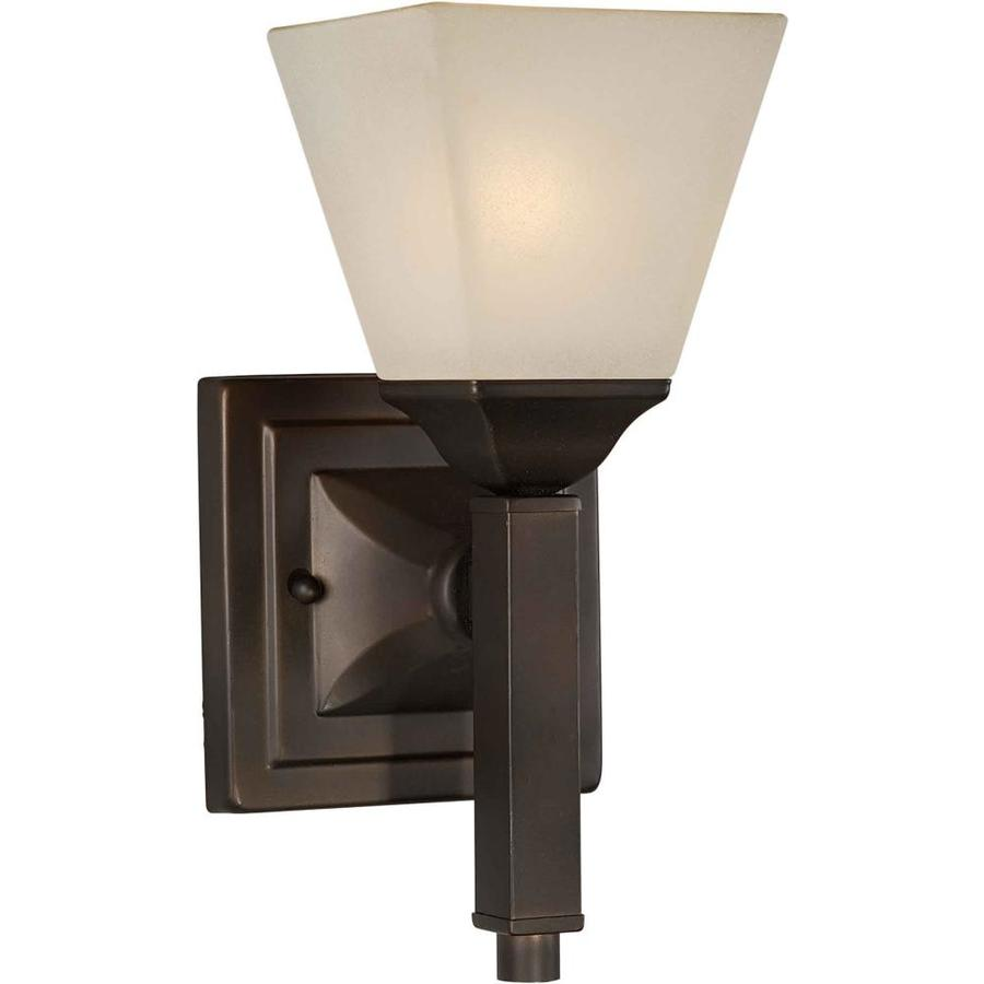 Shandy 5.5-in W 1-Light Antique Bronze Arm Hardwired Wall Sconce