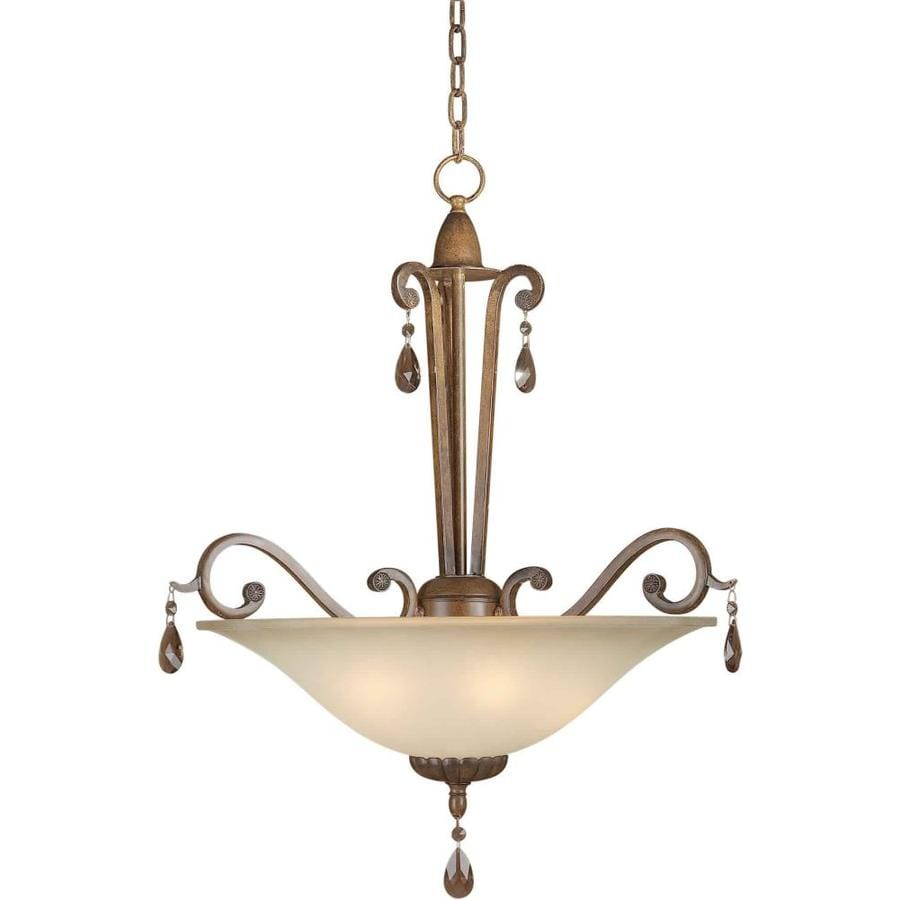 Shandy 21.5-in Rustic Sienna Single Tinted Glass Pendant