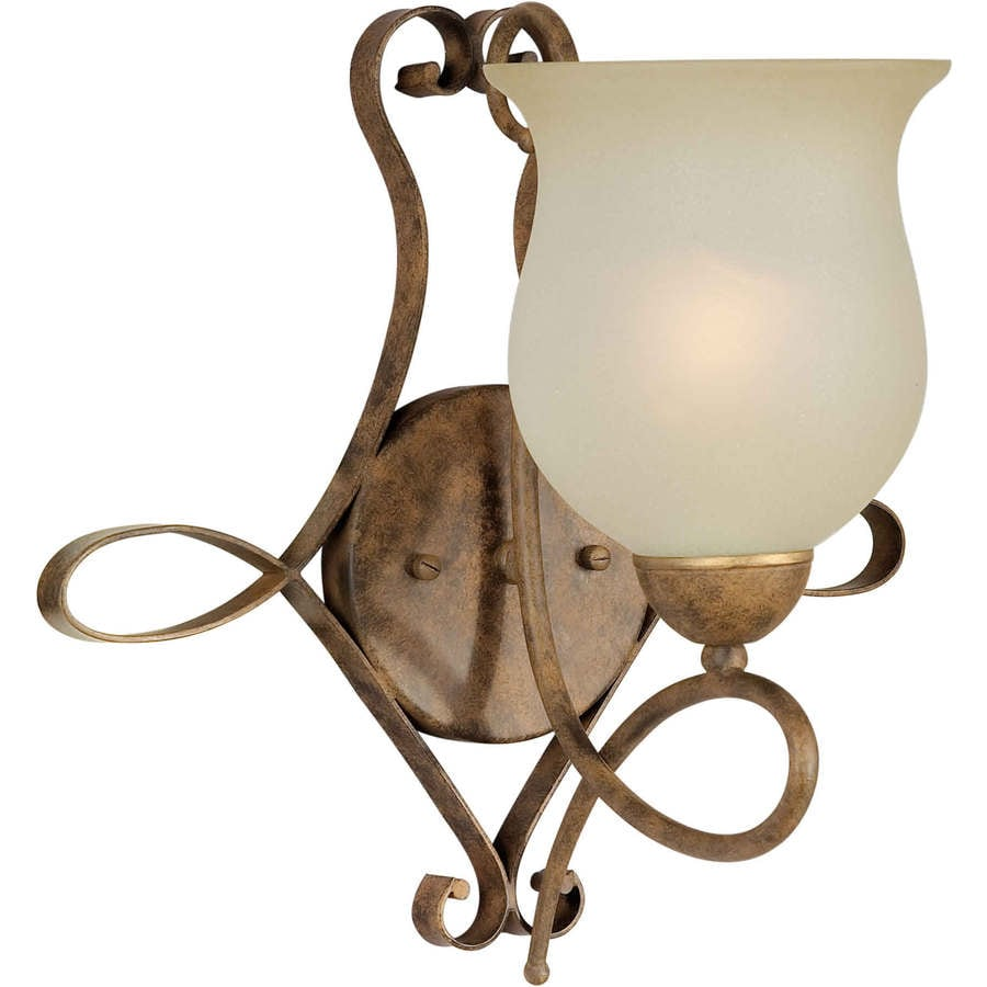 Shandy 13.5-in W 1-Light Chestnut Arm Hardwired Wall Sconce