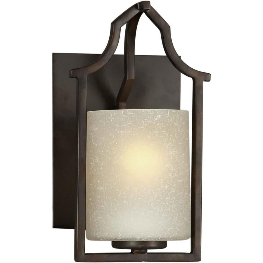 Shandy 6.75-in W 1-Light Antique Bronze Arm Hardwired Wall Sconce