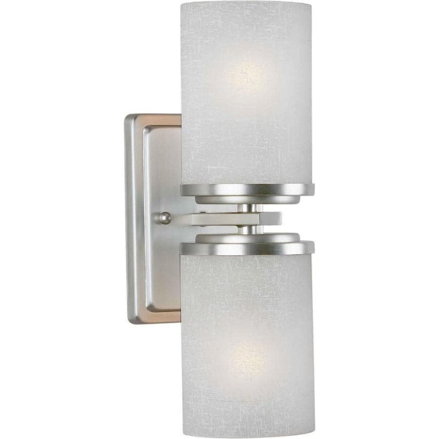 Massto 4.5-in W 2-Light Brushed Nickel Arm Wall Sconce