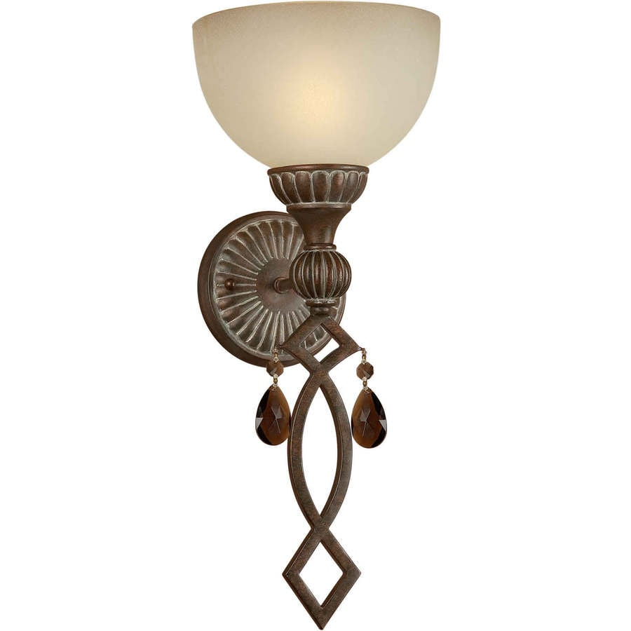 Shandy 7.75-in W 1-Light Black Cherry Arm Hardwired Wall Sconce