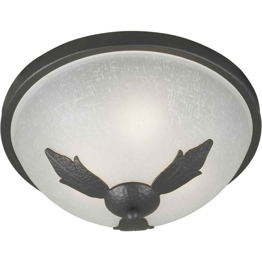 15-in W Natural Iron Ceiling Flush Mount Light