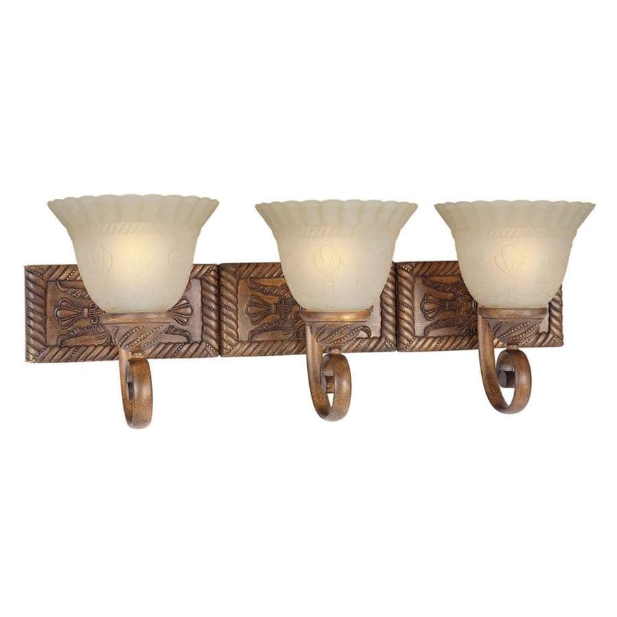 Rustic Chrome Vanity Lights : Shop Shandy 3-Light Rustic Sienna Vanity Light at Lowes.com
