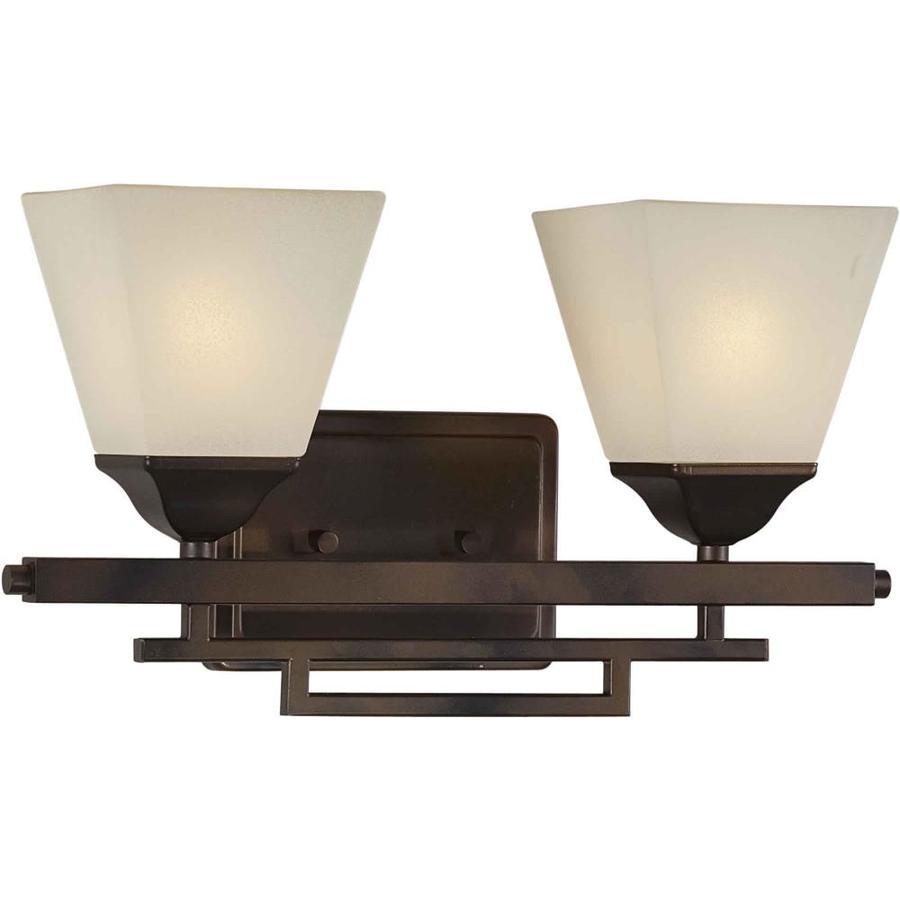 Shandy 2-Light Antique Bronze Vanity Light