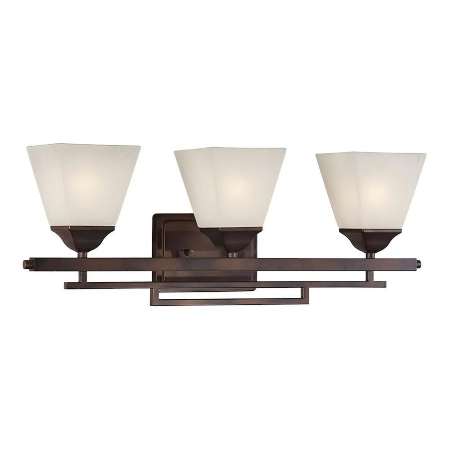 Antique Bathroom Vanity Lights : Shop 3-Light Shandy Antique Bronze Bathroom Vanity Light at Lowes.com