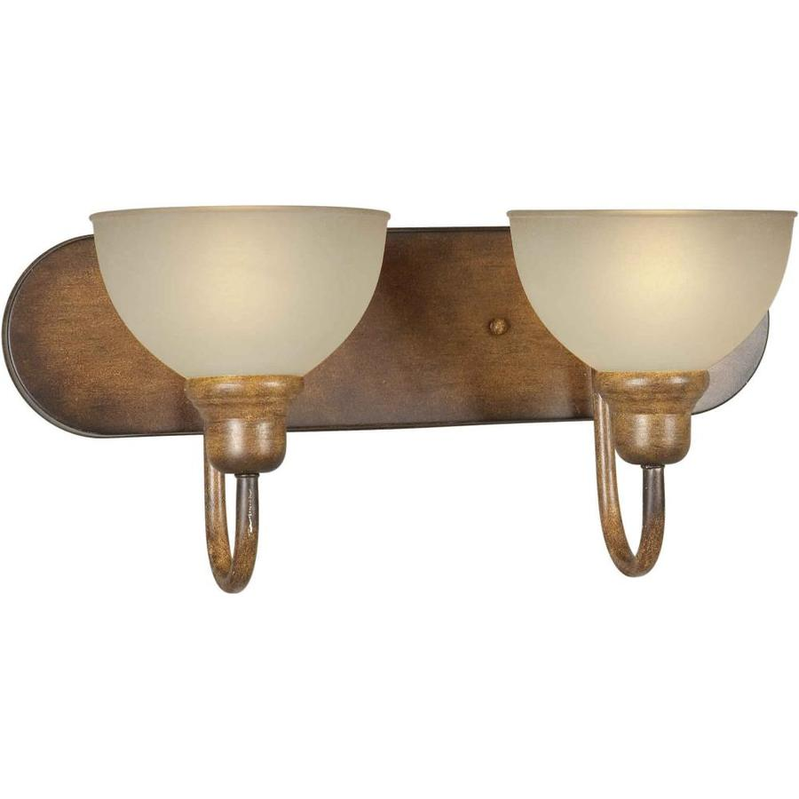 Rustic Vanity Lights Bathroom : Shop Shandy 2-Light Rustic Sienna Vanity Light at Lowes.com