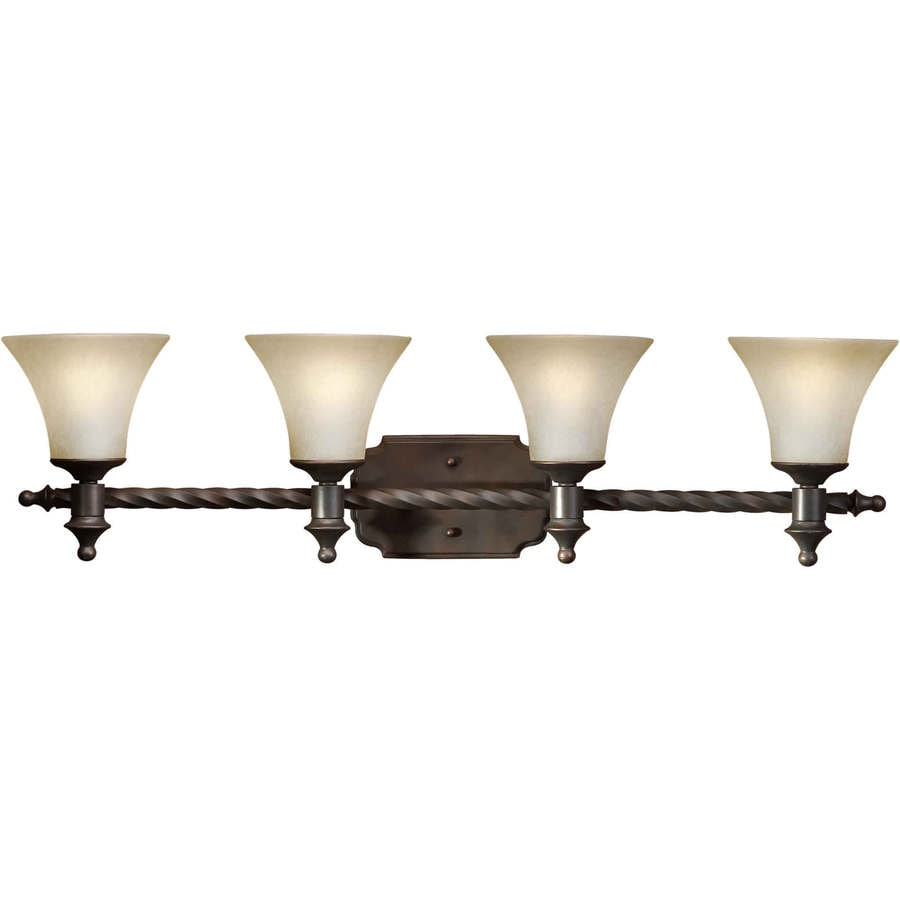 Antique Bronze Vanity Lights : Shop Shandy 4-Light Antique Bronze Vanity Light at Lowes.com