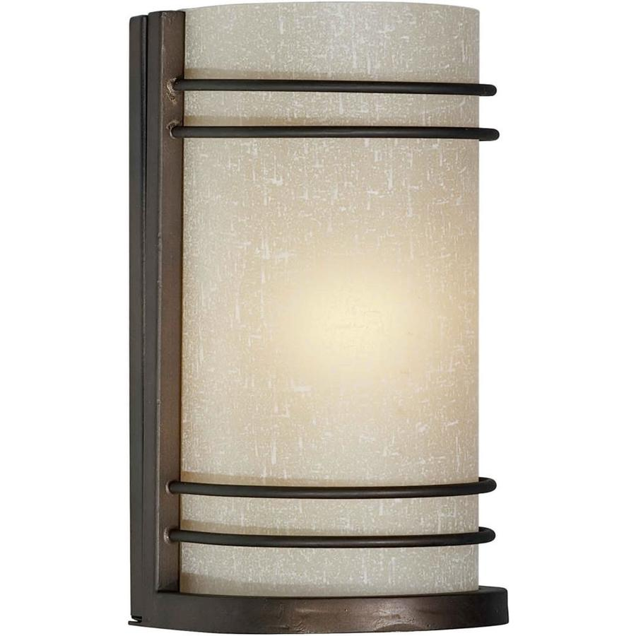 Shandy 4.5-in W 1-Light Antique Bronze Pocket Hardwired Wall Sconce