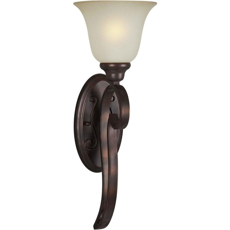 Wall Lamps Not Hardwired : Shop Shandy 7-in W 1-Light Antique Bronze Arm Hardwired Wall Sconce at Lowes.com