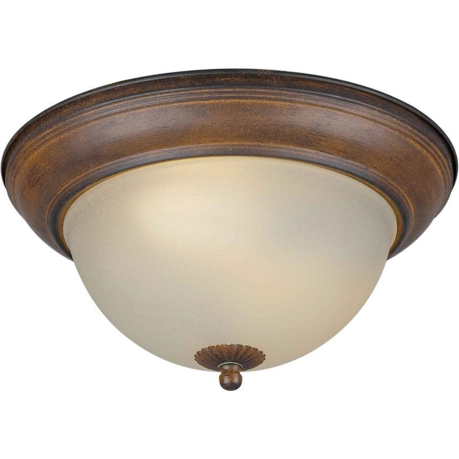 13.25-in W Rustic Sienna Ceiling Flush Mount Light
