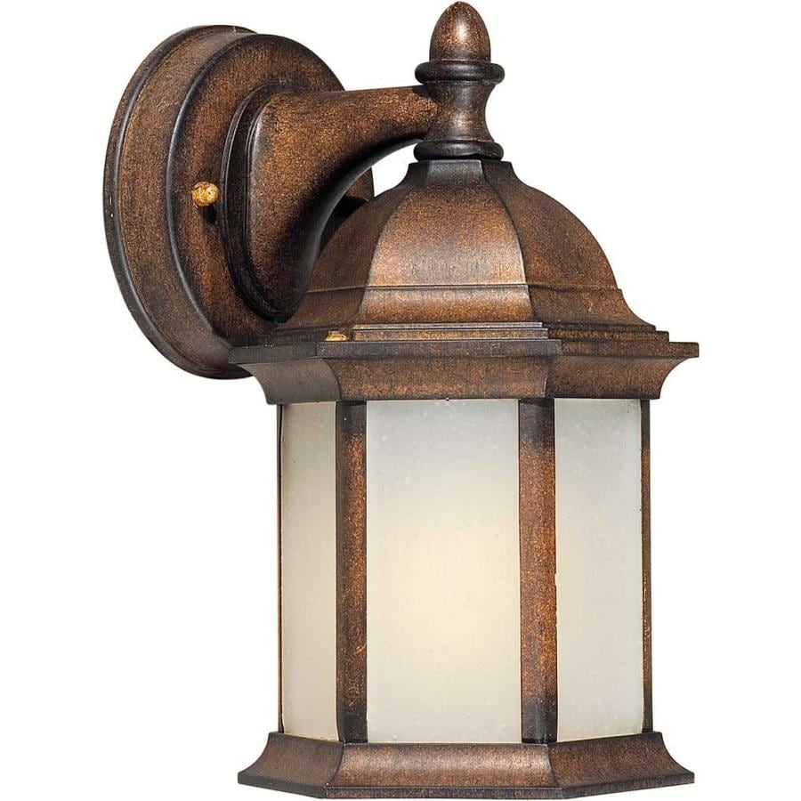 Shop 10-in H Rustic Sienna Outdoor Wall Light at Lowes.com