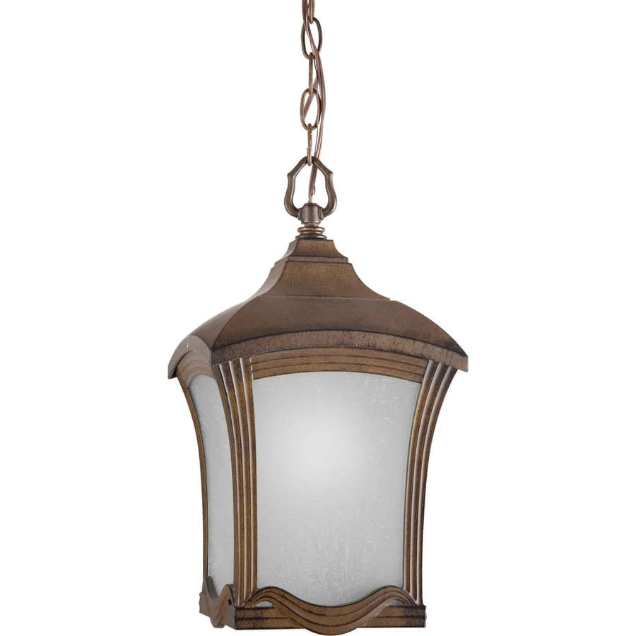 Shop Pollux 16 5 In Rustic Sienna Outdoor Pendant Light At