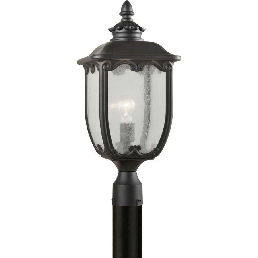 21.5-in H Black Post Light