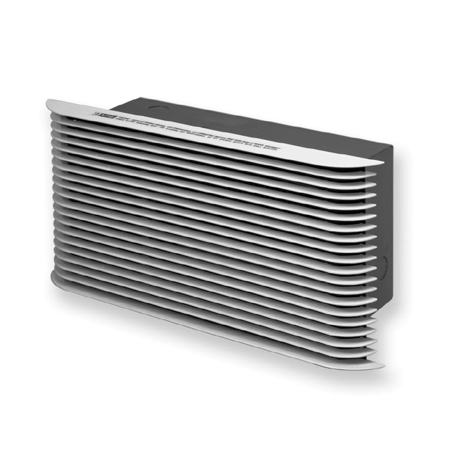 King White Steel Louvered Sidewall/Ceiling Grille (Rough Opening: 7.25-in x 16-in; Actual: 7.25-in x 16-in)
