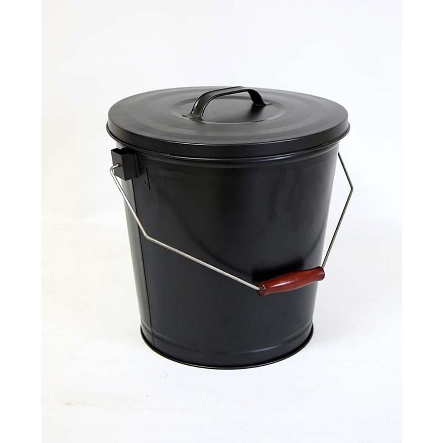 Shop Style Selections Black/Powder Coated Steel Ash Bucket ...