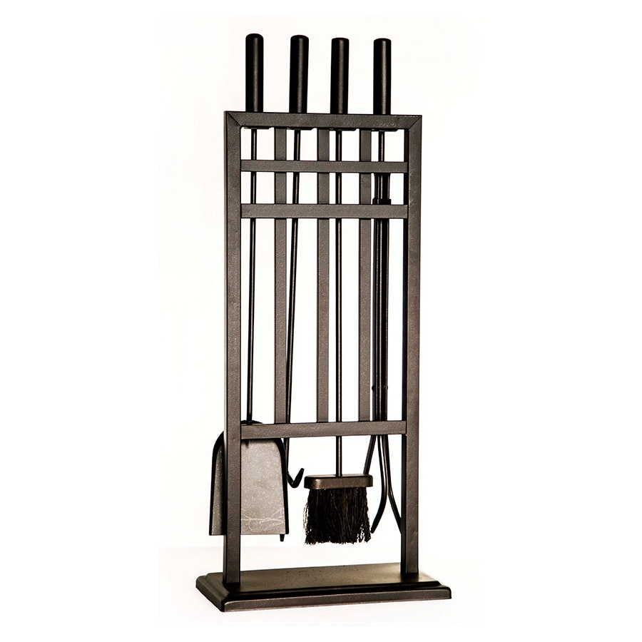 shop style selections 4 piece steel fireplace tool set at