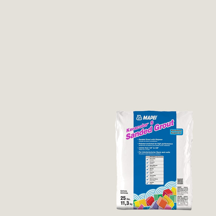 MAPEI Keracolor S 25-lb White Sanded Powder Grout
