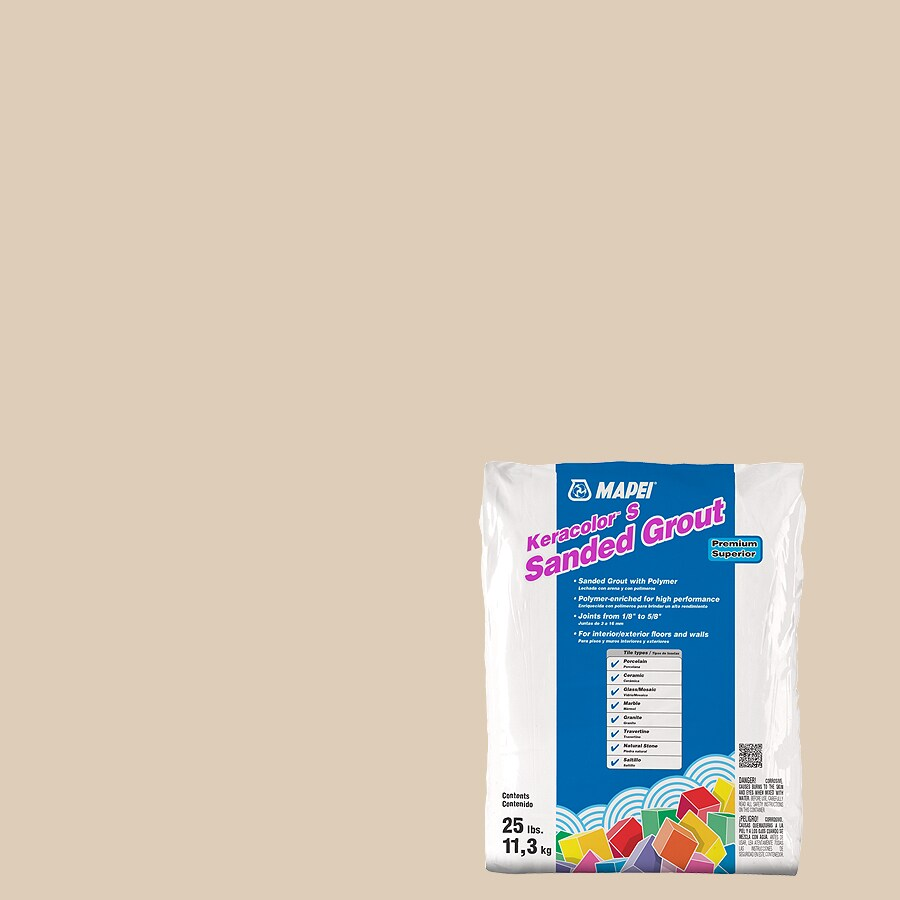 MAPEI Keracolor S 25-lb Light Almond Sanded Powder Grout