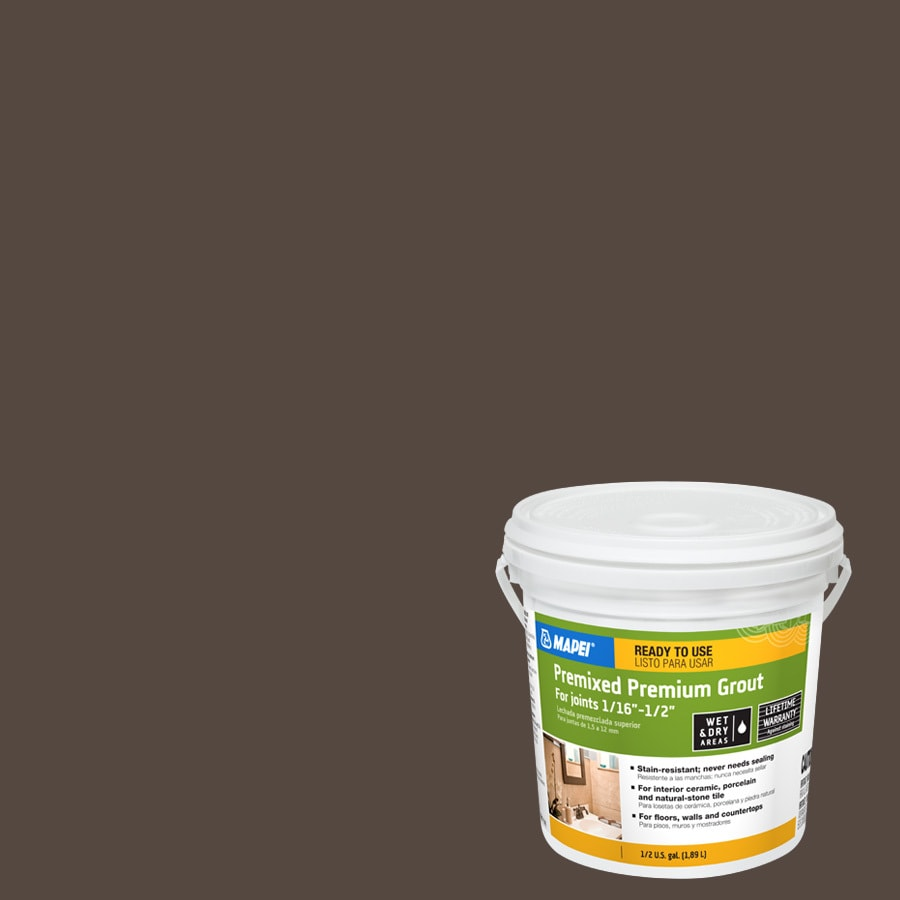MAPEI 0.5-Gallon Chocolate Sanded Premixed Grout