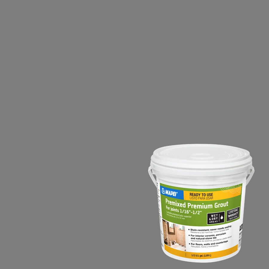 MAPEI 0.5-Gallon Pearl Gray Sanded Premixed Grout