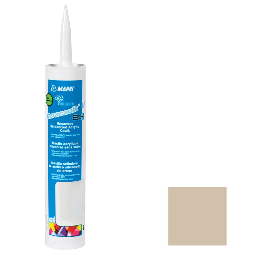 MAPEI Keracaulk U 10.5-oz Bone Paintable Siliconized Acrylic Specialty Caulk